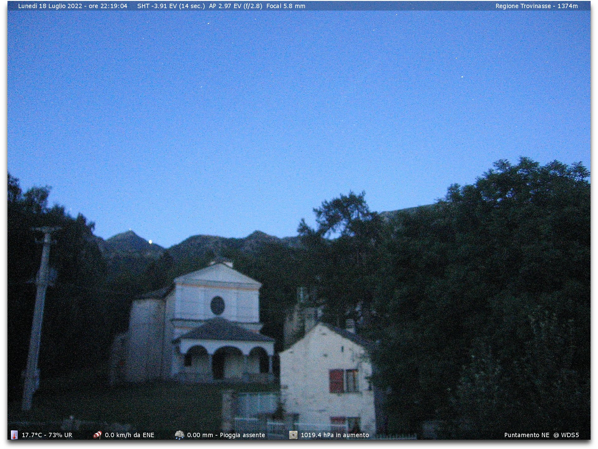 Webcam settimo vittone to trovinasse 1754 m meteo for Diretta camera
